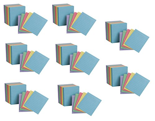 Oxford Mini Index Cards, 3 x 2.5, Ruled, Assorted Colors, 200 Per Pack, Pack Of 8, 1600 Cards Total (10010EE)