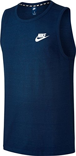 - Nike Men's Sportswear Advance 15 Sleeves Knit Shirt, (Binary Blue/White, XXL)