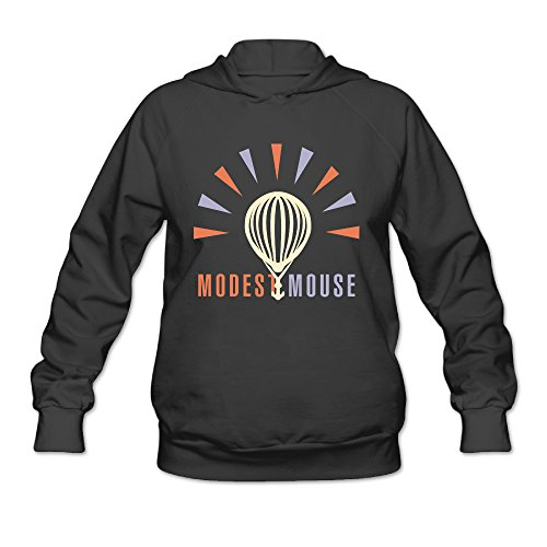 AK79 Women's Hooded Sweatshirt Modest Mouse Size L Black