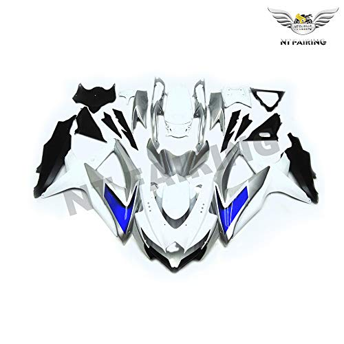 - NT FAIRING Blue Silver White Injection Mold Fairing kits Fit for Suzuki 2008 2009 2010 GSXR 600 750 K8 08 09 10 GSX-R600 Aftermarket Painted ABS Plastic Motorcycle Bodywork