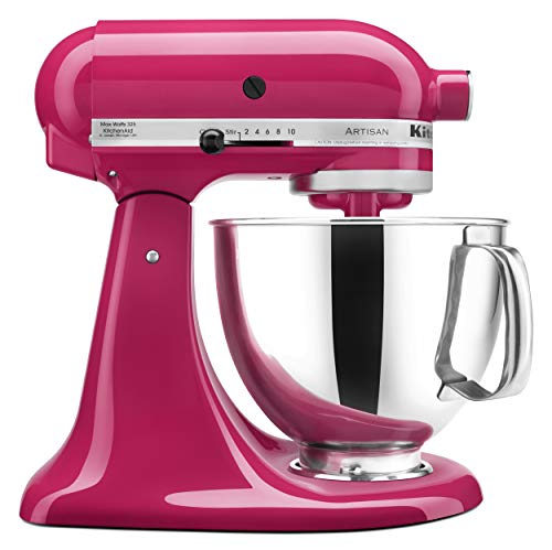 KitchenAid KSM150PSCB Artisan Series 5-Qt. Stand Mixer with Pouring Shield - Cranberry (Best Bread Recipe For Kitchenaid Mixer)