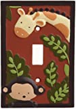 Kids Line Jungle 123 Switch Plate Cover, Brown, Baby & Kids Zone