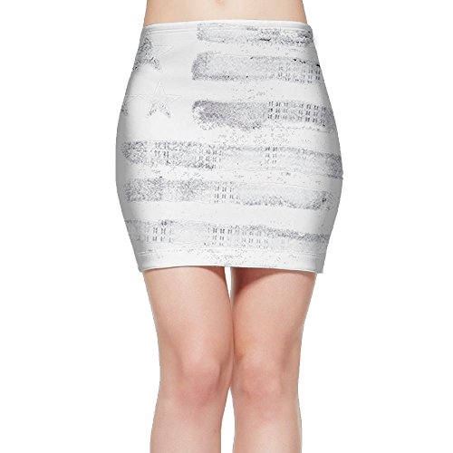 Women's Short Skirt Pencil Skirts Stretch Bodycon Americana Above Knee Mini Skirt (Stretch Americana Skirt)