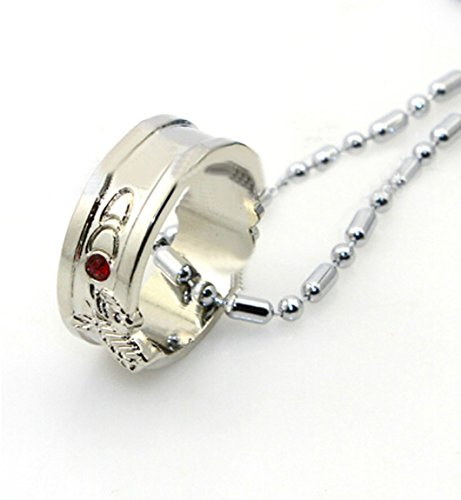 Relaxcos Sword Art Online Krito Asuna Ring Necklace Accessories