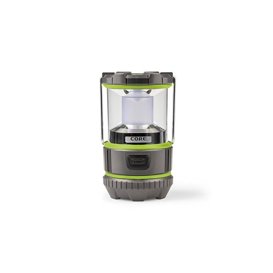 CORE 500 Lumen CREE LED Battery Lantern, Two Modes, Water Resistant, Camping Emergency Backyard Use