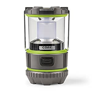 CORE 500 Lumen CREE LED Battery Lantern, Two Modes, Water Resistant, Camping Emergency Backyard Use