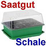 Saatgutschale Kunststoff zum Anzüchten, Saatgut Mini Gewächs Treib Haus Schale (LHS)