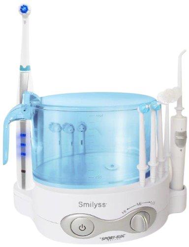 Combinado dental Smilyss - Cepillo de dientes recargable oscilo-rotativo + Irrigador dental con depósito