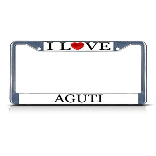 I Love Heart Aguti Chrome Metal