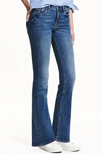 Taille Jeans Denim Blue Bell Femmesssique Un En Des Femmes CLes Pantalons Haute Les X8570F