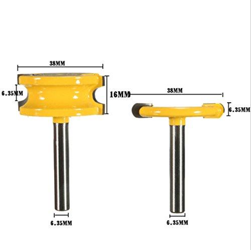 DBoyun 2 Pcs 1/4-Inch Shank Flute & Bead Canoe Joint Router Bit Set Carbide-Tipped Woodworking Milling Cutter ()