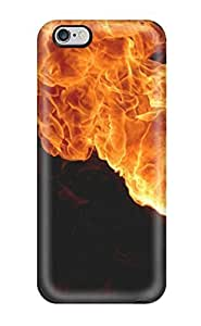 Snap-on Fire Case Cover Skin Compatible With Iphone 6 Plus(3D PC Soft Case)
