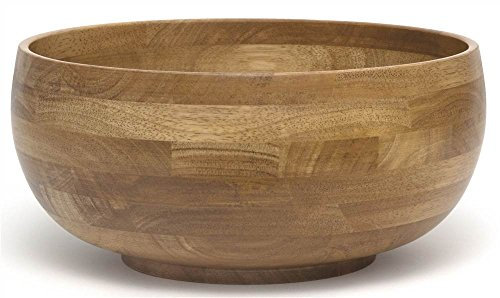 """Lipper International 324 Oak Finished Footed Rice Serving Bowl, Large, 12"""" Diameter x 5"""" Height, Single Bowl"""