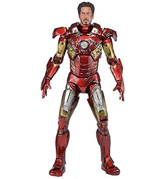 NECA 61238 - Figura de acción Los Vengadores (61238) - Figura Los Vengadores Armadura Iron Man dañada (45 cm)