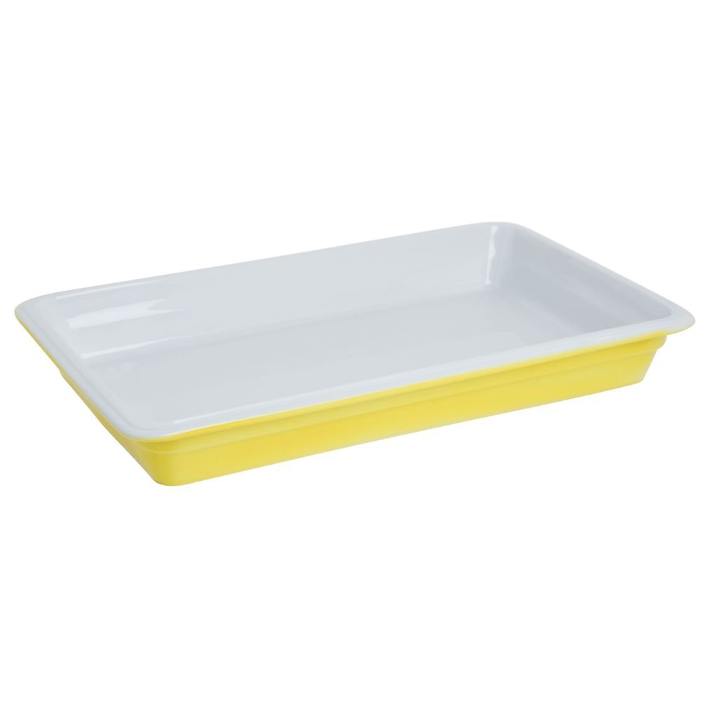 World Cuisine 44342Y06 Porcelain Induction Hotel Pan, Large, Yellow
