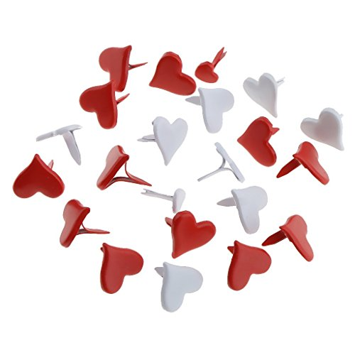 - 500pcs Heart Shape Metal Brads Paper Fasteners for Scrapbooking Crafts