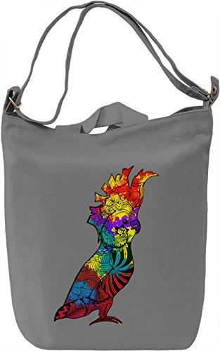 Colourful Parrot Borsa Giornaliera Canvas Canvas Day Bag  100% Premium Cotton Canvas  DTG Printing 