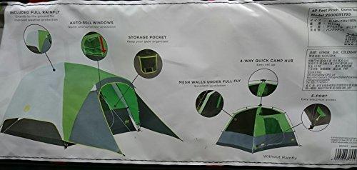 散文トラックカフェColeman コールマン 簡単設置 4人用 ドームテント フライ耐水圧2000mm