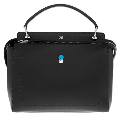 Fendi Women's Dot Com Handbag with Blue Clutch Black