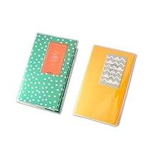 FOME 84 Pockets 2pcs Fujifilm Bundle Set Lovable Mini Polaroid Photo Album for Fujifilm Instax Mini 7S 8 25 50S Films - Yellow + Daisy + FOME Gift