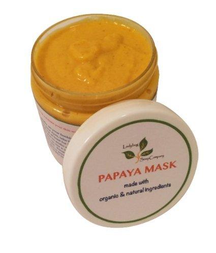 All Natural Papaya Turmeric Grapefruit Skin Lightening Mask (Age Spot, Sun Damaged Skin, Acne Scar, Spa Facial) (5 oz) ()