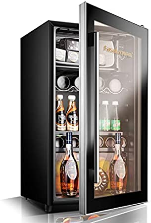 TX 95L Compressor Cooler - Rojo y Blanco Enfriador de Vino - Bebidas preservación Mini Nevera - Pomo para la regulación de Temperatura