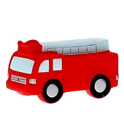 DolliBu COTA Global Bath Buddies Red Fire Truck - 3 Inch - Squirter Bath Toy - Item #2802: Toys & Games