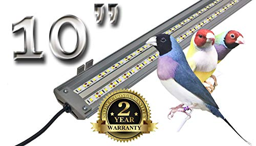 M&M Cage Company EZ PetLight for Softbill Birds - 10 Inch Full Spectrum LED Light for Birds, Reptiles and Aquariums
