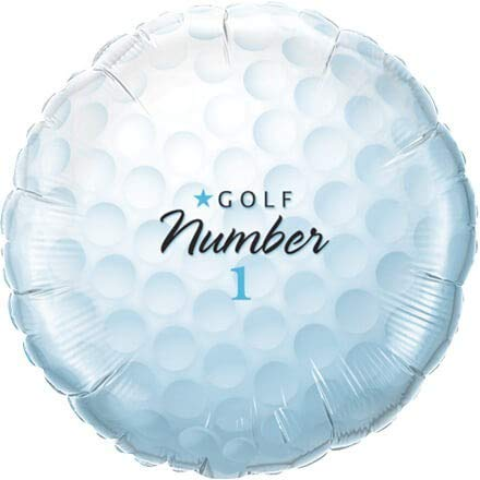 Qualatex Foil Balloon 028736 Golf Ball - Number