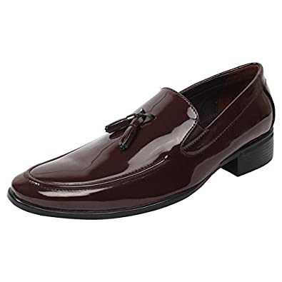 many choices of luxury aesthetic famous designer brand SASSIE Brown Loafer/Slip On with Tassel Shining semi Formal Shoes for Man