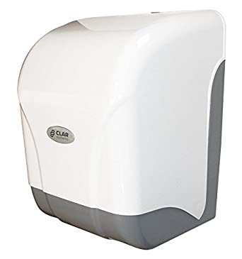 Clar Systems M1500PG Dispensador de Papel Mecha, Blanco y Gris
