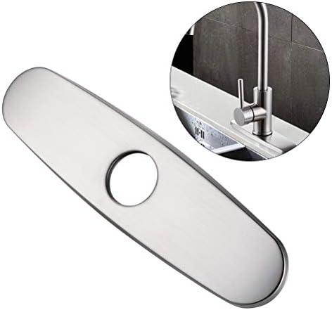 Yardwe Kitchen Sink Wasserhahn Loch Deckdeckelschild Nickel Nickel gebürstet Badezimmer Vanity Sink Abdeckplatten 9,5 Zoll