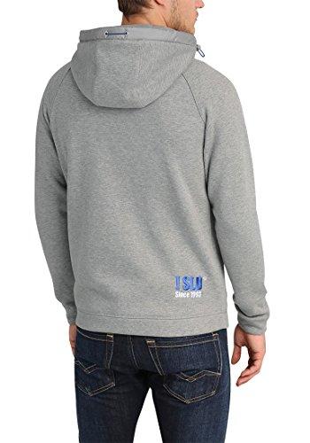 8242 y Zip hombre Sudadera capucha Solid con para Melange gris cremallera claro Benji 7Xa6x1