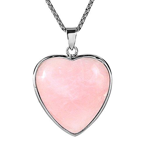 Quartz Heart Charm - 7