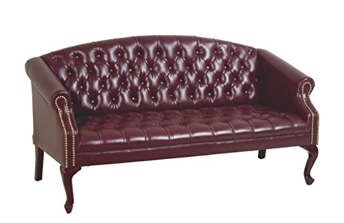 Office Star Queen Ann Traditional Vinyl Sofa, Jamestown