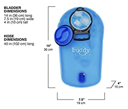 Hydration Bladder 3L with FREE Cleaning Brush - Drink taste-free water from a FDA approved BPA free durable reservoir - Easy to clean and fill wide opening - Perfect for hiking, cycling, and camping