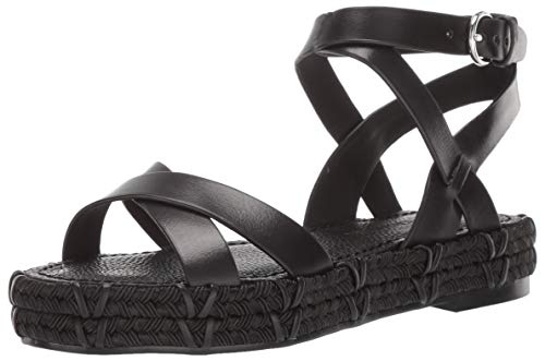 (Sigerson Morrison Women's Jacky Espadrille Wedge Sandal, Black, 37 M EU (7 US))