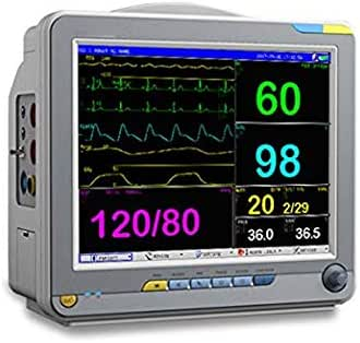 12.1 Inch Color Portable Patient Monitor with 6 Standard Parameter