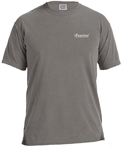 (NCAA Maryland Terrapins Wood Grain State Short Sleeve Comfort Color Tee, Large,Grey)