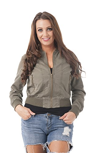 Cotton Blend Bomber Jacket - 3