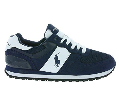 Polo Ralph Lauren SLATON PONY Sneakers Basse Uomo Blu 43