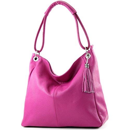 Sac Pink XL T165 à de en bandoulière bandoulière en bandoulière cuir cuir Modamoda A4 Sac à ital à Sac qSUUE