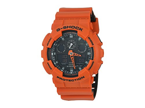 Casio G-Shock GA-100 Military Series Watches - Orange/One -