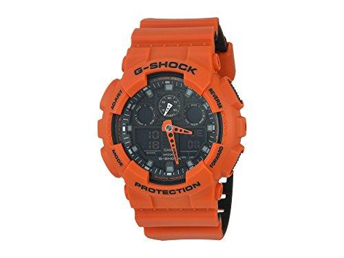 - Casio G-Shock GA-100 Military Series Watches - Orange/One Size