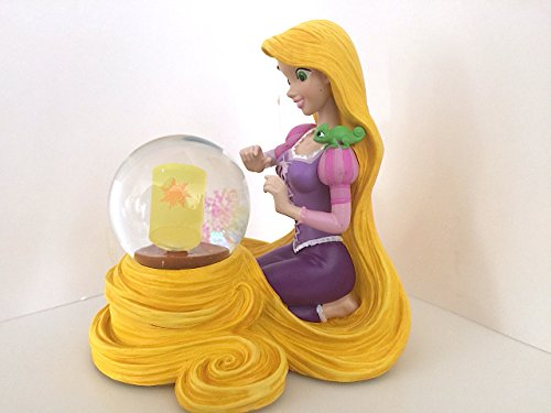 Disney Parks Rapunzel with Pascal Figurine Light Up Snowglobe NEW