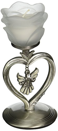 Glass Confirmation Candle (Angel Designed Candle Holder)