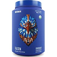 Birdman Falcon Protein, Organic Plant Based Powder 2.18 lb, 33 Servings, Chocolate Flavor, Vegan, Gluten Free, Kosher, Non-GMO, Drink Mix, with Pea and Rice
