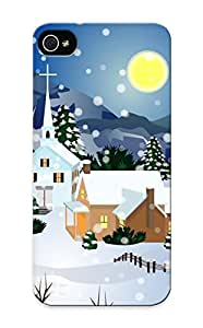 Christmas Gift - Tpu Case Cover For Iphone 5/5s Strong Protect Case - Holiday Christmasi Design
