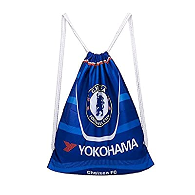Chelsea Cinch Bag Sack Backpack Soccer Drawstring Sports Ball Bag Shoulder Strap