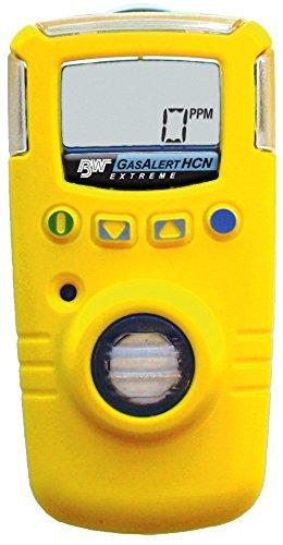 BW Technologies GAXT-Z-DL GasAlert Extreme Hydrogen Cyanide (HCN) Single Gas Detector, 0-30.0 ppm Measuring Range, Yellow
